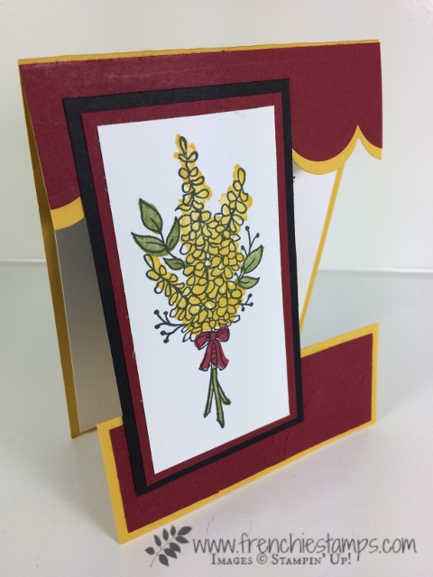 Lots of Lavender, Vertical Greeting, Open Panel Card, Frenchie Stamps, Stampin'Up!