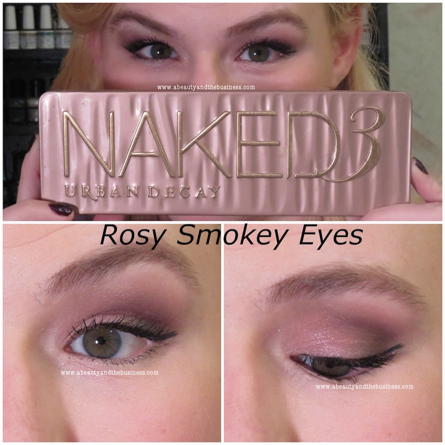 Rosy Smokey Eye Tutorial Hooded Eyes 3