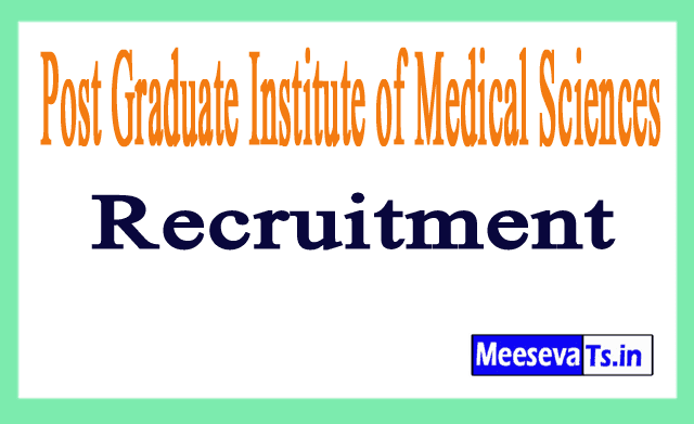 Post Graduate Institute of Medical Sciences PGIMS Recruitment