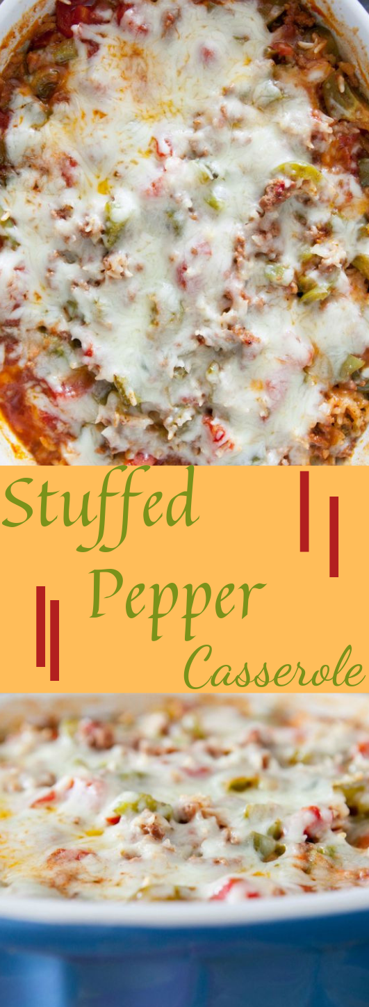 Stuffed Pepper Casserole #vegan #veggie