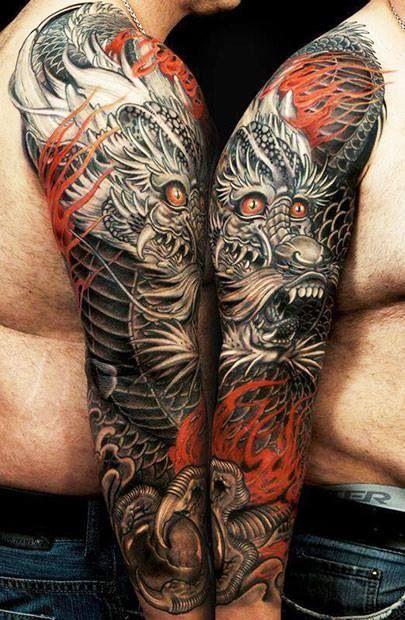 tatuajes para hombres de dragones