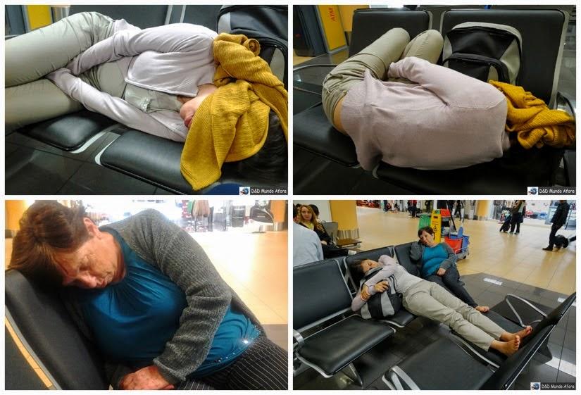 Dormindo no aeroporto de Lima, Peru