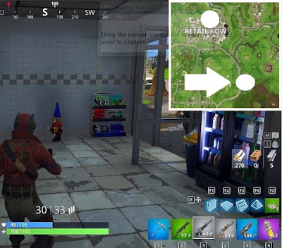 Fortnite, Battle Royale, Hungry Gnomes, Locations Guide, Retail Row