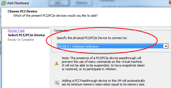 VMware ESXi: How To VMware VMDirectPath (PCI Passthrough)