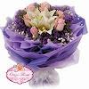 Hand Bouquet Purple HB002