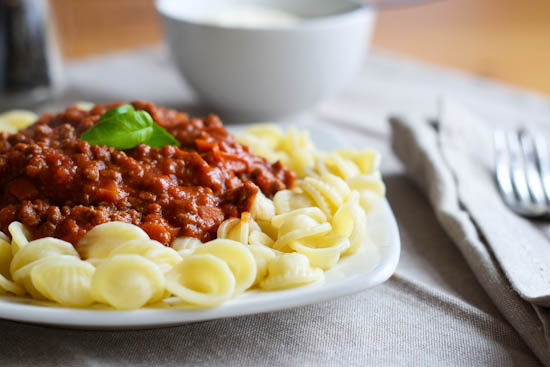 pasta with buffalo ragu