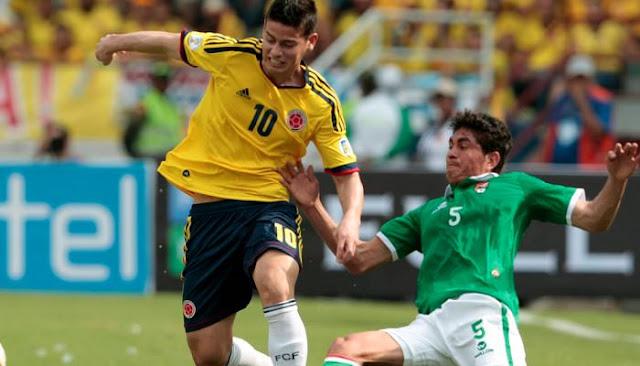 Bolivia vs Colombia en vivo Eliminatorias Rusia 2018