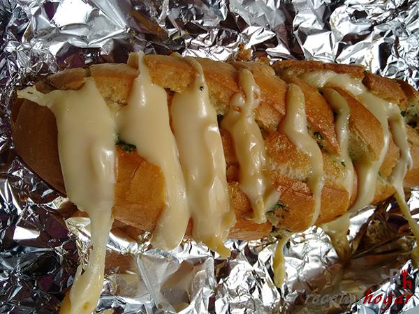 Receta del pan de ajo y queso