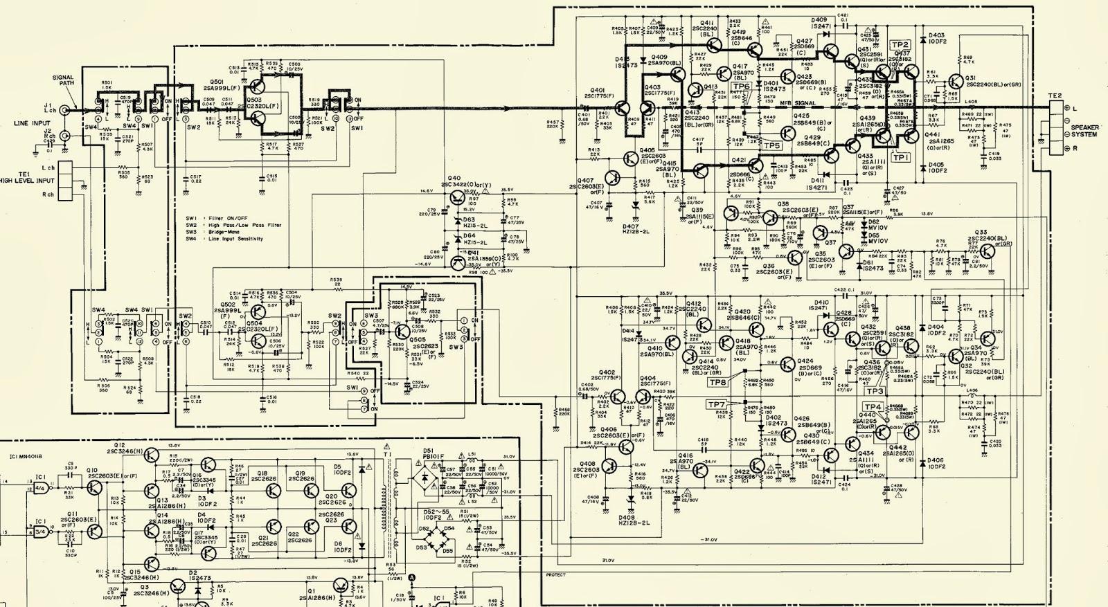 harman kardon ca260 hi fi car amplifier schematic diagram circuit diagram [ 1600 x 877 Pixel ]