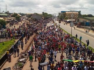 Guinée: Conakry, manifestation contre la hausse du prix du carburant à la pompe par les Forces Sociales de Guinée