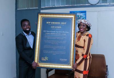 Former First Lady , Nana Konadu Agyemang Rawlings Receives RTP Honorary Award