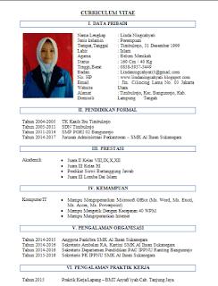 Contoh CV Adminsitrasi / Sekretaris