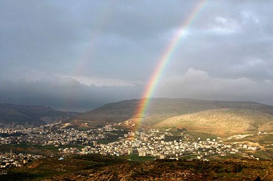 lluvia sobre Israel