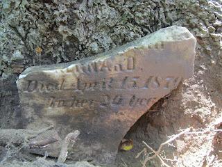 headstone fragment found