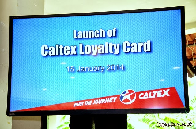 The launch was a simple, no frills affair, announcing the partnership for the Caltex JOURNEY Card