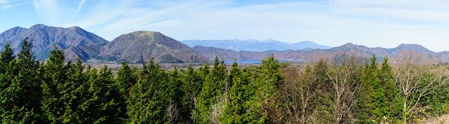 大室山西展望台(県道71号:富士宮鳴沢線)からの景色