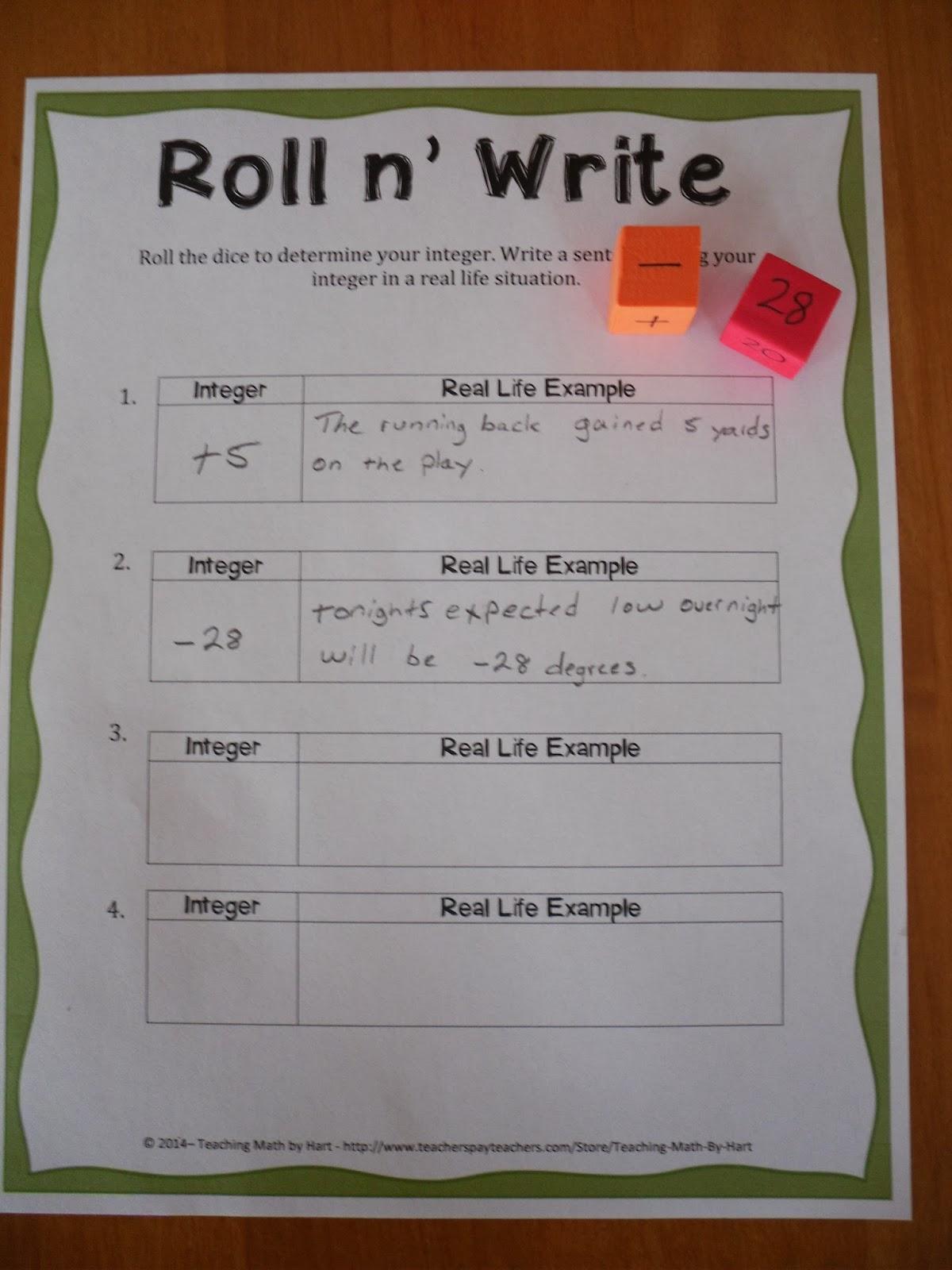Teaching Math By Hart Diy Dice