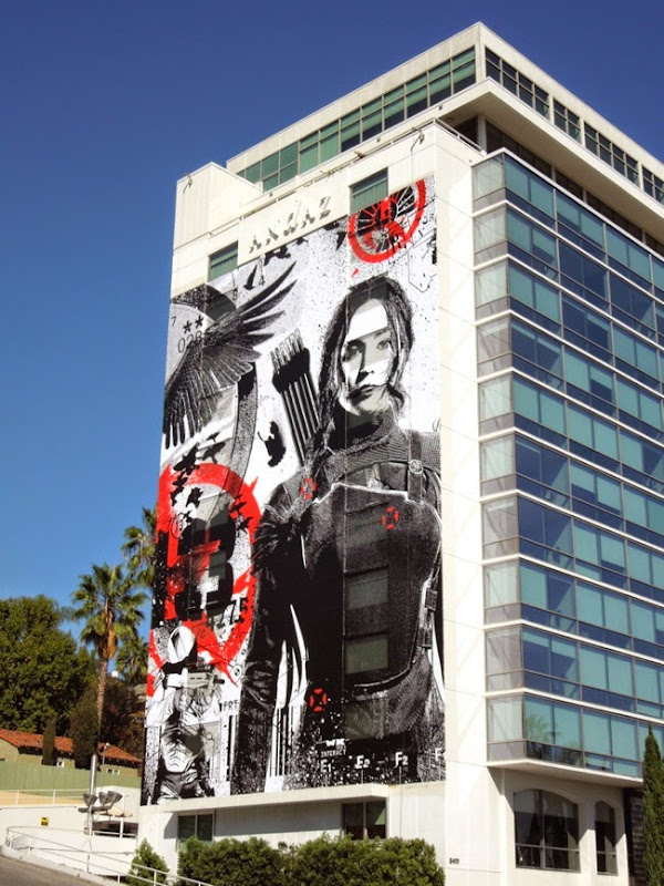 Giant Hunger Games Mockingjay Part I movie billboard