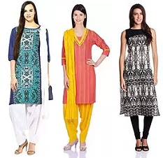 Women's Ethnic Wear (Kurta, Kurti) – Minimum 60% Off @ Amazon