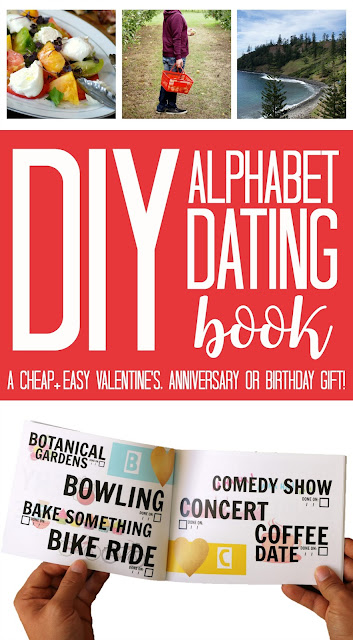 DIY Alphabet Dating Book Easy Homemade Valentines Gift Idea - Cheap, Handmade Gift Project