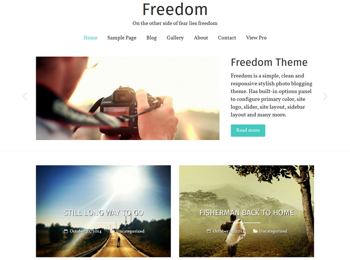 Freedom Photography WordPress Theme