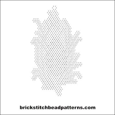 Brick Stitch Bead Patterns Journal: Autumn Pine Cone