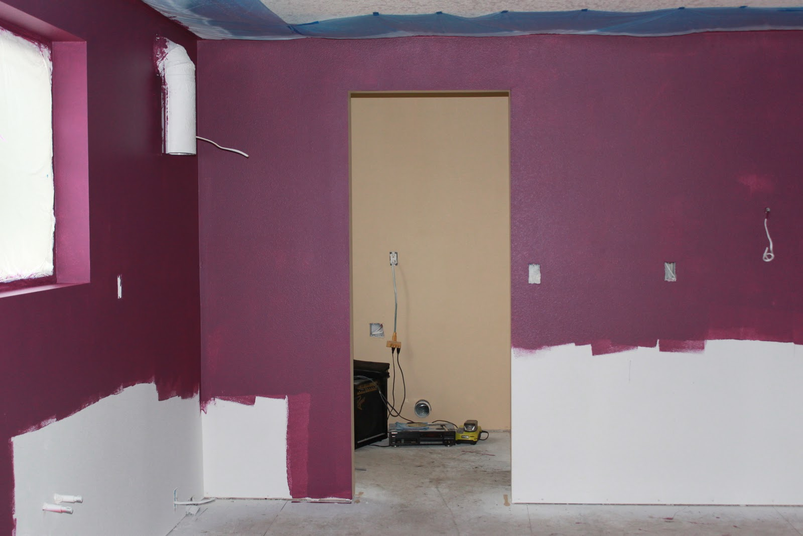 I Love This Color It S Called Amethyst Plum Still Needs Another Coat But We Have To Gallon The You See In Laundry Room Is