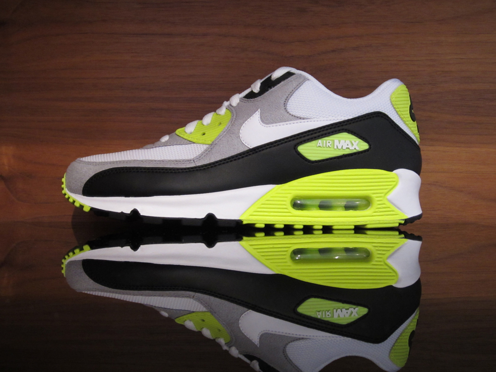 brand new 7d3f9 73bb8 New in Store 1.30.12. January 30, 2012. New Nike in Store 1.30.12. Nike Air  Max  90. Black, White, Medium Grey, Volt.