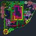 مخطط لتشجير مساحة جرداء اوتوكاد dwg