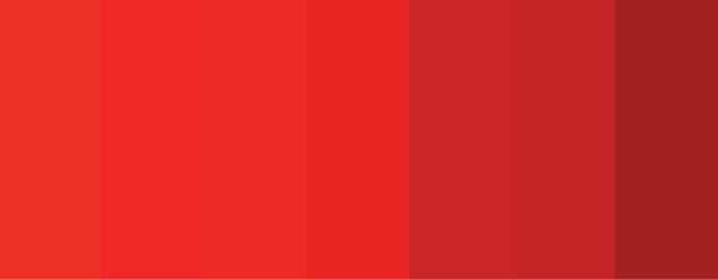 tons de vermelho