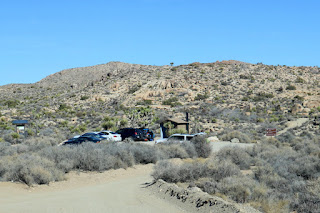 Nearing the Pine City Backcountry Board parking area and trailhead for Negro Hill and Desert Queen Mine, Joshua Tree National Park
