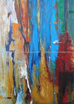 Tableau, abstrait, atelier, mouvement