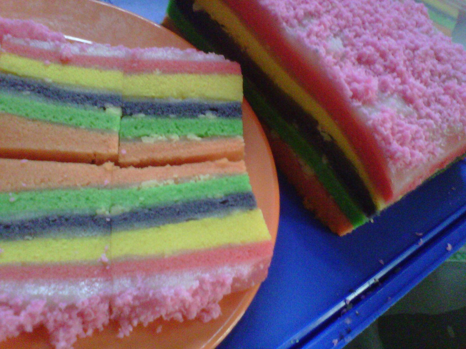 Resep Cake Kukus Sederhana: Dunia Bunda: Rainbow Cake Kukus