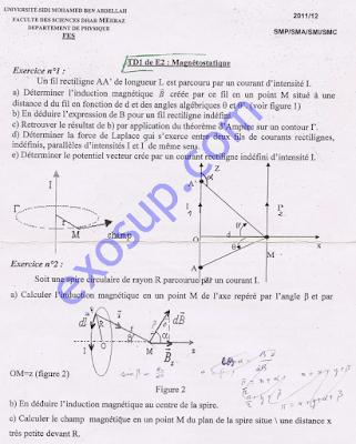 TD Magnétostatique Dhar Mehraz Fes S3