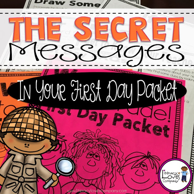 The first day of school is an important one.  Make sure your first day packet is sending the right messages to your students.