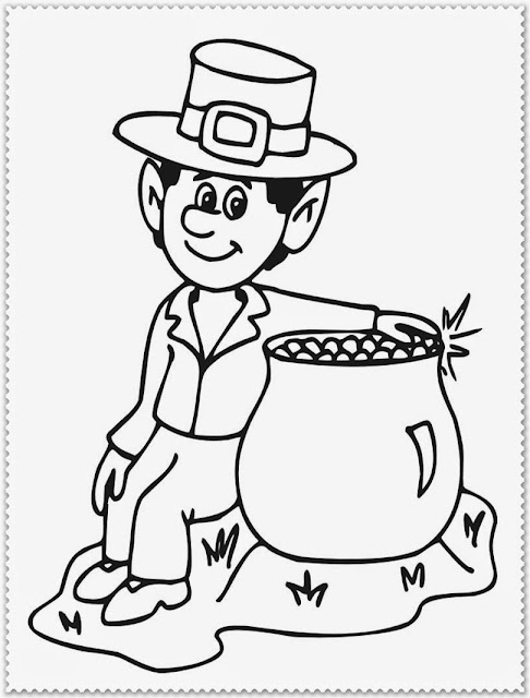 st patrick day coloring pages crafts