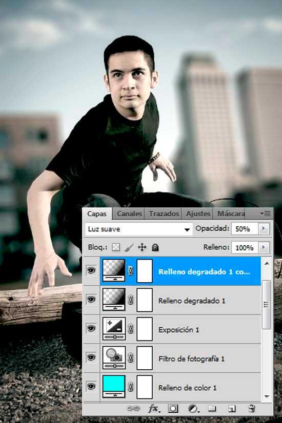 Tutorial Photoshop en Español Efecto Cine Paso 12