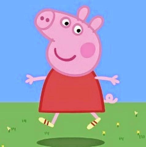 Peppa Pig Birthday Cake Template