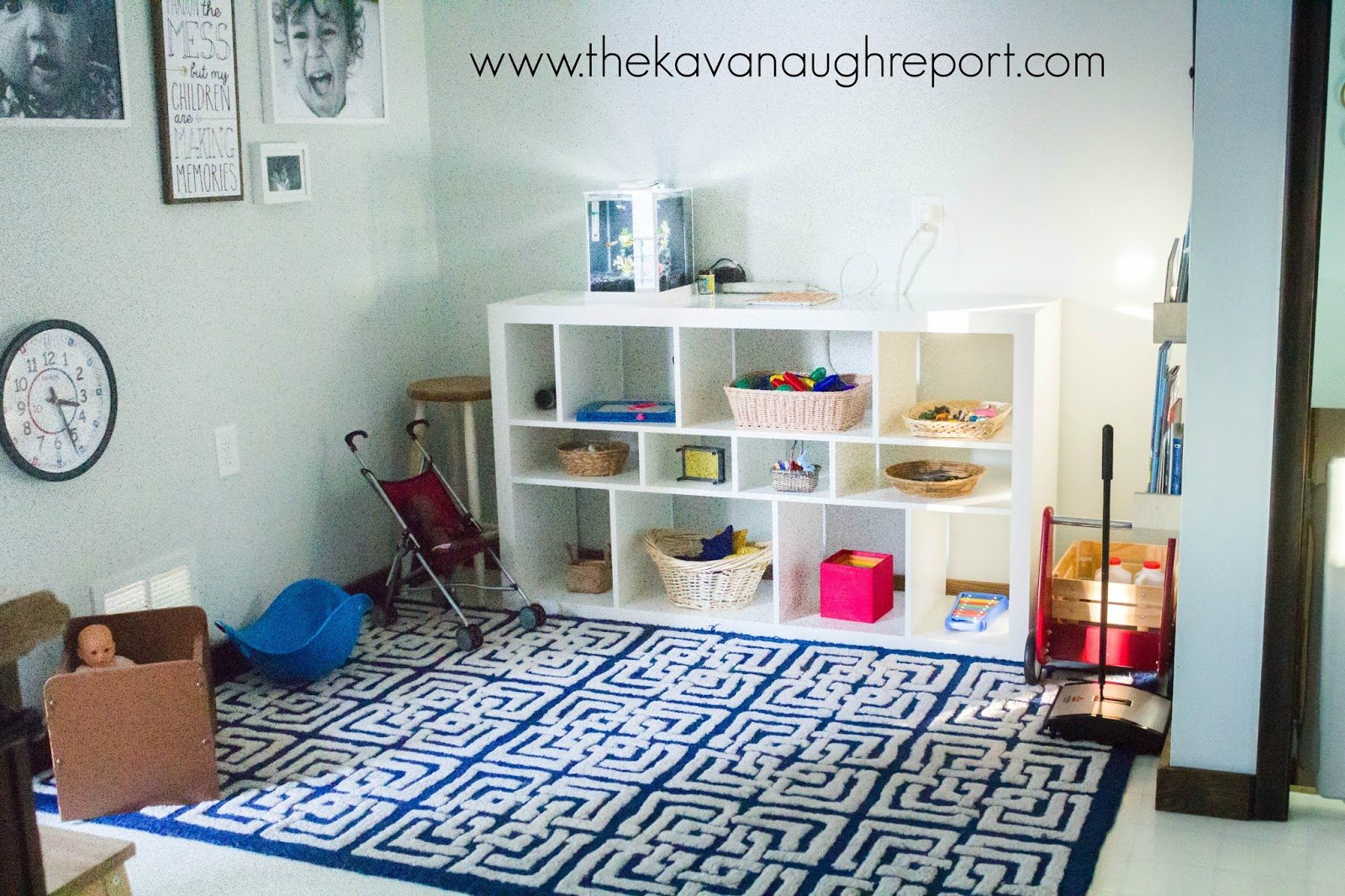 A Peek At Our Montessori Playroom