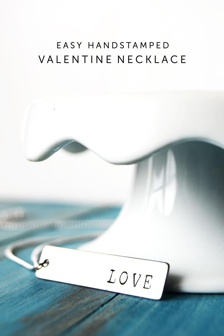 handstamped valentines day necklace at crafts unleashed