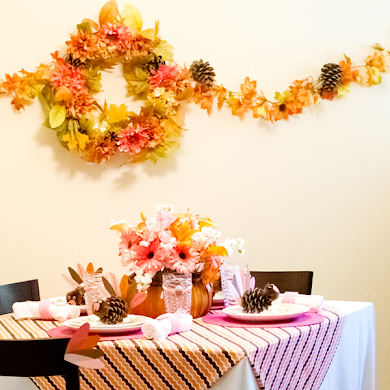 Thanksgiving Sugar & Spice Kids Party Tablescape