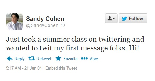 sandy cohen twitter message the o.c.