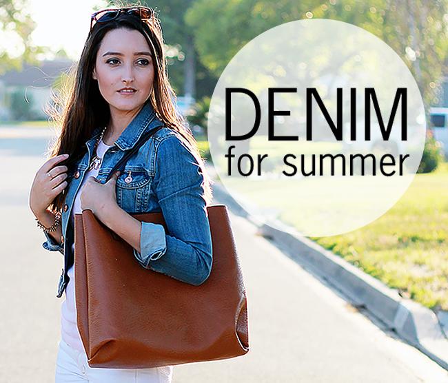 Denim for Summer via A Good Hue