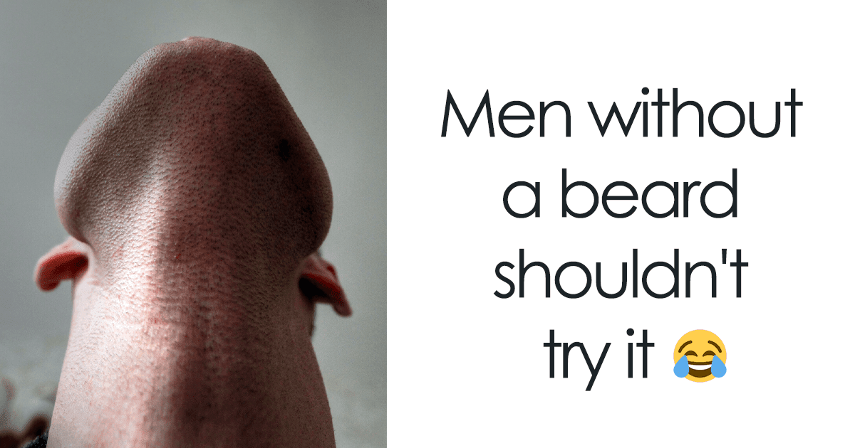 20 Disturbingly Funny Pictures Of Bearded Guys Looking Straight Up