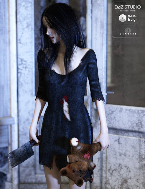 Distressed Outfit for Genesis 3 Female