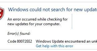 How to fix Windows Update Error Code 80072EE2 error