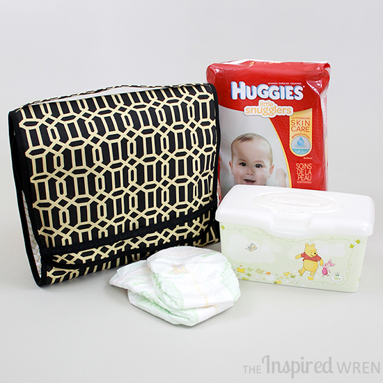 Sophisticated grab and go changing pad! | TUTORIAL: On-the-Go Changing Pad & Diaper Caddy | The Inspired Wren
