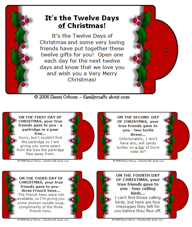 picture relating to 12 Days of Christmas Printable Templates referred to as Contagiously Cunning: 12 Times of Xmas- Youngsters Design and style