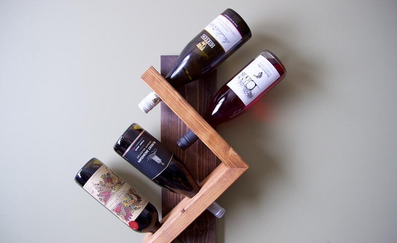 How to Build a Wall-Mounted Wine Rack