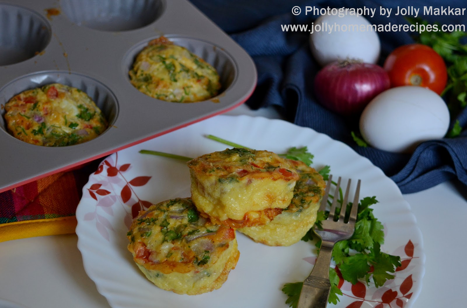 Breakfast Egg Muffins, How to make Easy Egg Muffins | Baked Egg Muffins with Veggies